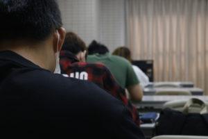 試験の風景